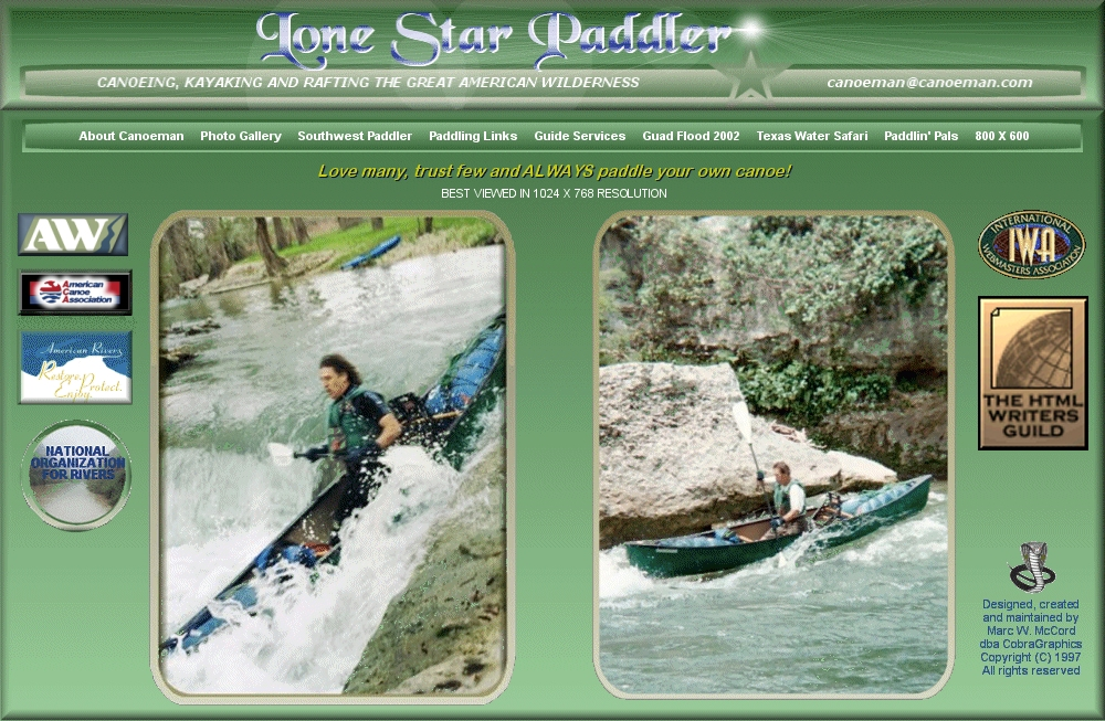 Lone Star Paddler - Canoeing, Kayaking and Rafting the Great American Wilderness
